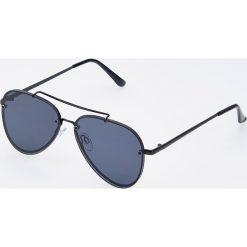 af6789069c9bf7 Okulary przeciwsłoneczne aviatorki - Czarny. Czarne okulary przeciwsłoneczne  damskie Reserved. Za 59.99 zł.