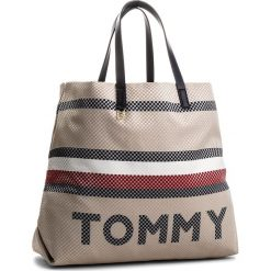 9dabed555ca89 Shopperki damskie: Torebka TOMMY HILFIGER - Summer Corporate Tote  AW0AW05284 903