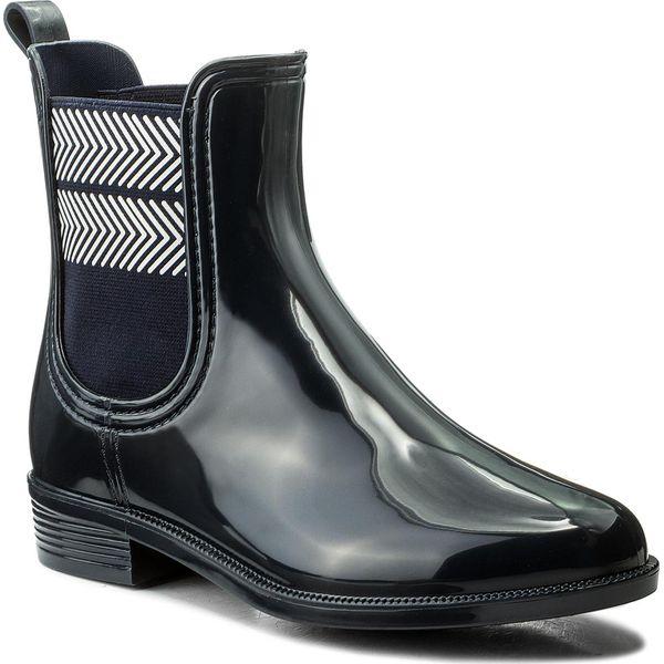 7973887dca7fc Kalosze TOMMY HILFIGER - Chelsea Rain Boot Striped FW0FW02817 Midnight 403  - Niebieskie kalosze damskie marki Tommy Hilfiger, z materiału. Za 349.00  zł.