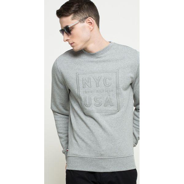 5f9e86315c955 Tommy Hilfiger - Bluza - Szare bluzy męskie marki Tommy Hilfiger