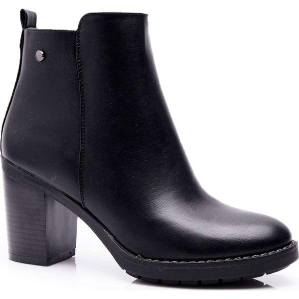 Czarne buty na obcasie Kolekcja jesień 2020 Sklep Radio ZET