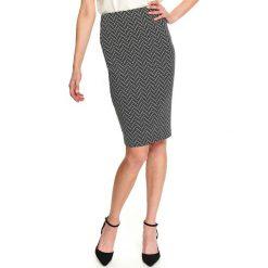Czarne spódnice damskie ze sklepu Top Secret, midi