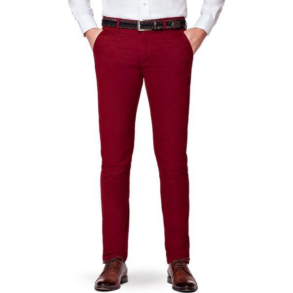 44df2495 Spodnie Bordowe Chino Paul