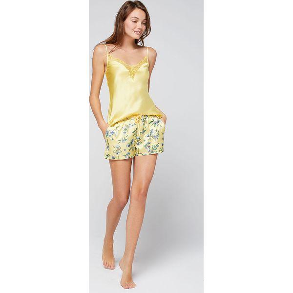 6ca2952cd30dcb Etam - Koszulka nocna Equinoxe - Szare koszule nocne damskie Etam, bez  wzorów, z materiału, bez ramiączek. W wyprzedaży za 79.90 zł.