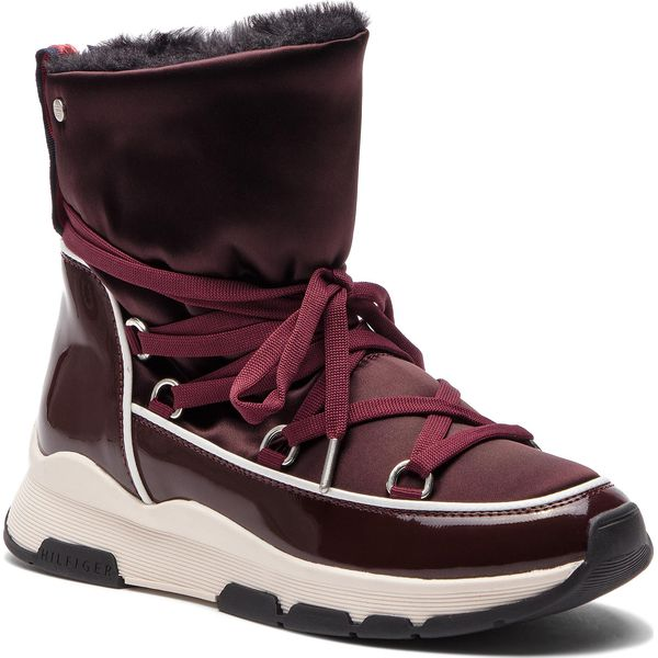 24637433083f8 Buty TOMMY HILFIGER - Cool Technical Satin Winter Boot FW0FW03697 ...