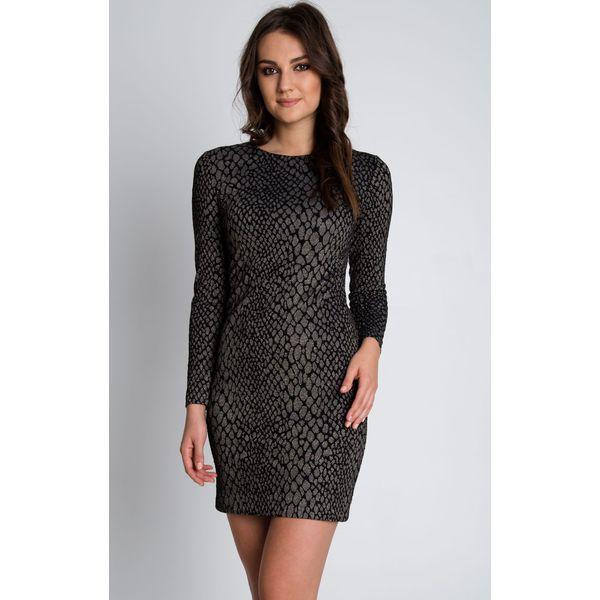 41462295a2 Dopasowana dzianinowa sukienka z długim rękawem BIALCON - Sukienki ...
