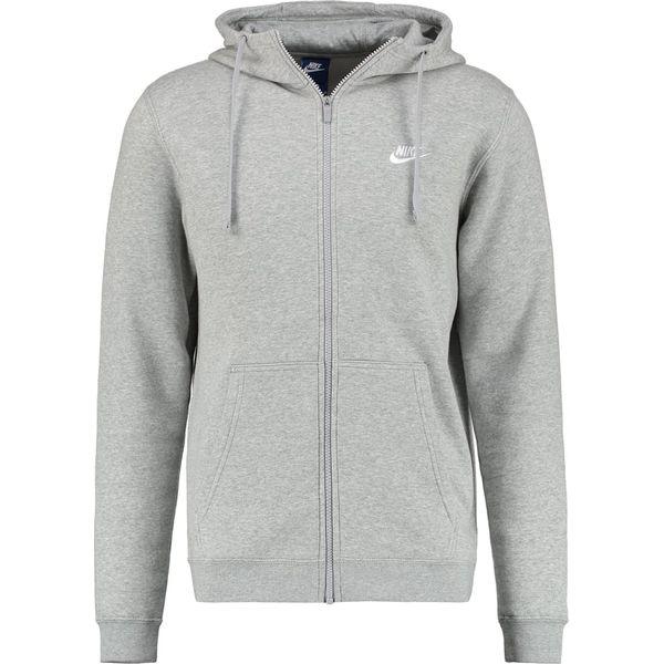 sprzedawca hurtowy gorące nowe produkty uważaj na Nike Sportswear CLUB FULL ZIP HOODIE Bluza rozpinana dark grey heather/white