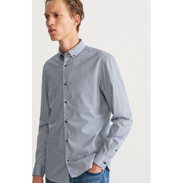 best selling best online sale online Wzorzysta koszula slim fit - Turkusowy