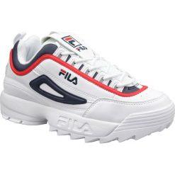 Wyprzedaż białe buty sportowe męskie Fila, trekkingowe