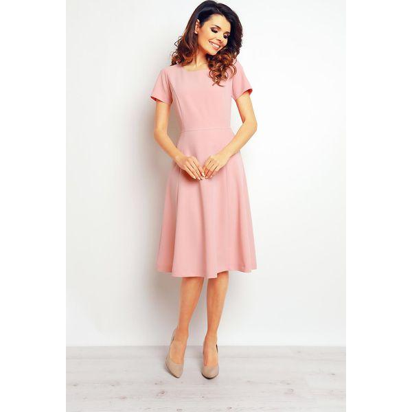 827969a5b7 Różowa Elegancka Rozkloszowana Sukienka - Czerwone sukienki damskie ...