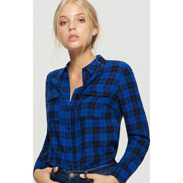 27c3dcadb0a0ce Koszula w kratę - Granatowy - Koszule damskie Cropp. W wyprzedaży za ...