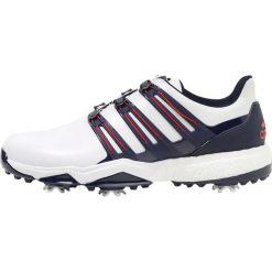 52ff3e42 Białe buty sportowe męskie adidas Golf, na golfa - Kolekcja lato 2019.  Adidas Golf PWRBAND BOA BOOST Obuwie do golfa white/night indigo/bold red.