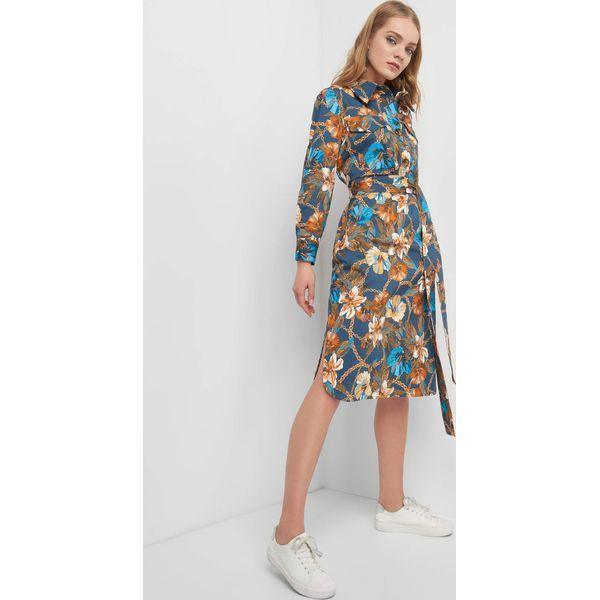 15d4bb06 Sukienka w kwiaty z wiązaniem
