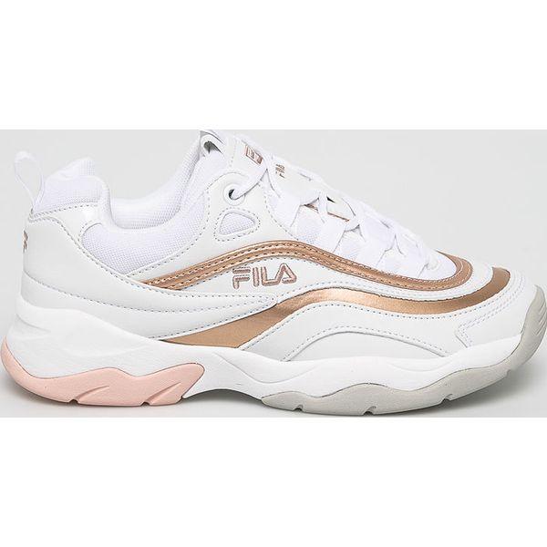 7767c5e5 Fila - Buty Ray F Low - Białe obuwie sportowe damskie Fila, bez ...