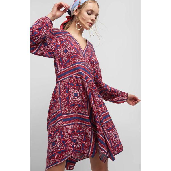55bc1b50 Sukienka ze wzorem paisley