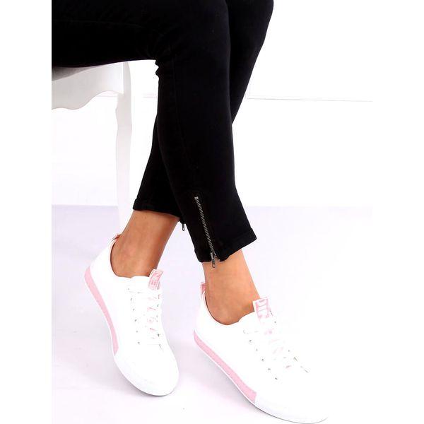 Trampki damskie biało różowe A88 23 Pink