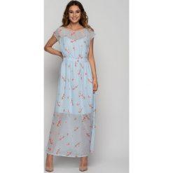 954b7957 Szyfonowa sukienka w kwiaty maxi - Sukienki damskie - Kolekcja lato ...