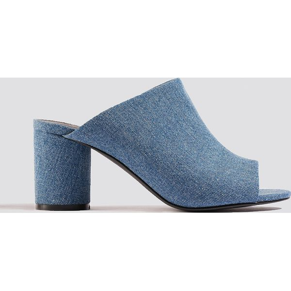 606279d4a1d79 NA-KD Shoes Klapki mule z denimu - Blue - Niebieskie klapki damskie ...
