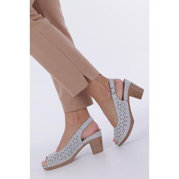 sandały damskie na szerokim obcasie