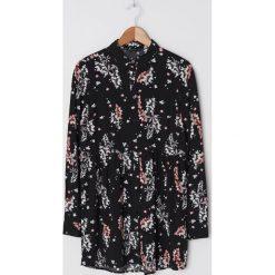 Koszula w kratę oversize Wielobarwny Koszule damskie