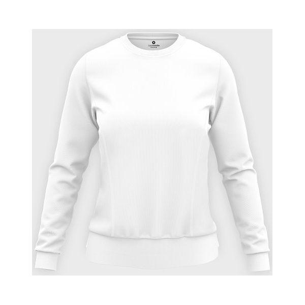 Damska bluza taliowana (bez nadruku, gładka) biała