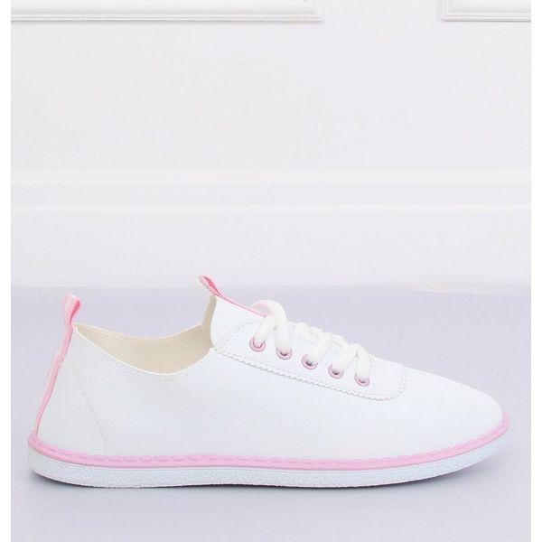 Tenisówki damskie biało różowe XJ 2918 Pink białe