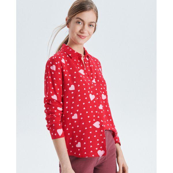 78ab0f785cbf Koszula o klasycznym kroju - Czerwony - Koszule damskie marki Cropp ...