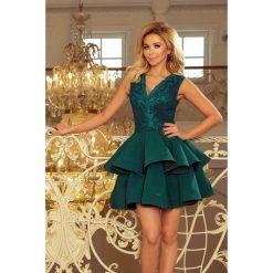 4a5d42cd97 Charlotte Ekskluzywna Sukienka Z Koronkowym Dekoltem Zielona. Sukienki  damskie marki Numoco. Za 279.00 zł