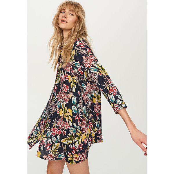 d74d5eb6d2 Sukienka w kwiaty - Granatowy - Niebieskie sukienki damskie marki ...