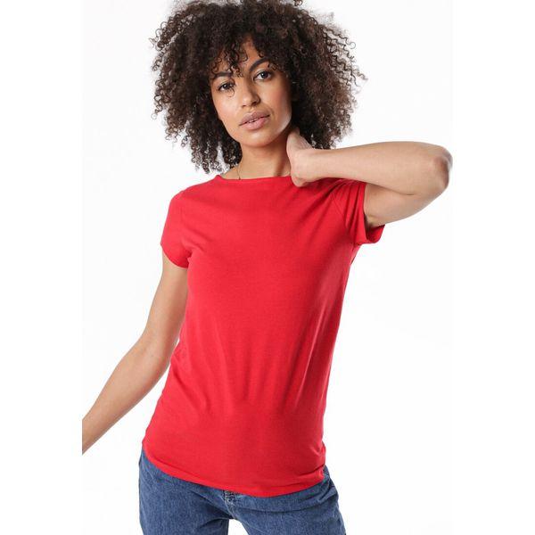 Czerwony T shirt Therial Czerwone t shirty damskie Born2be