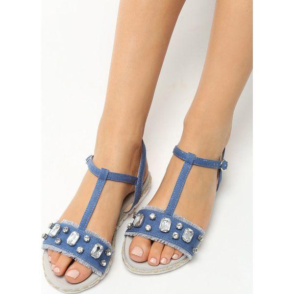 0a90fb10 Granatowe Sandały Fortitude - Niebieskie sandały damskie marki ...