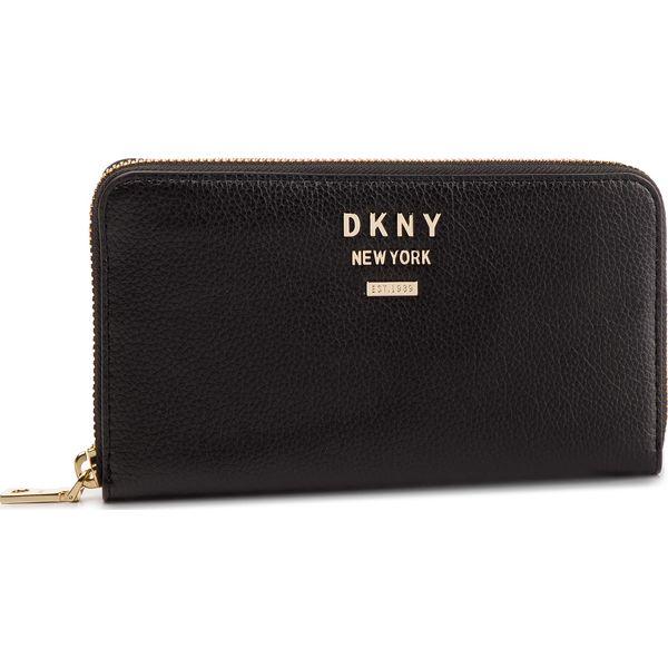 58e1a152e9cfc Duży Portfel Damski DKNY - R911HB03 Blk Gold BGD - Czarne portfele ...