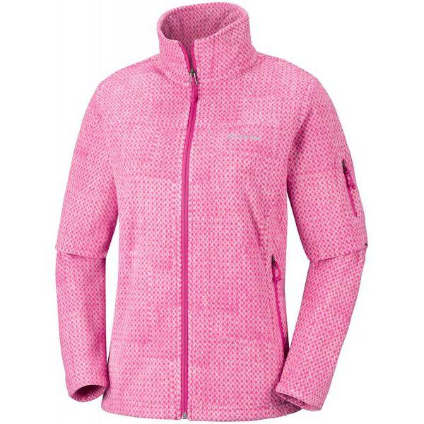 sklep dyskontowy autoryzowana strona kup popularne COLUMBIA bluza damska Fast Trek Printed Jkt Cactus Pink Sta M