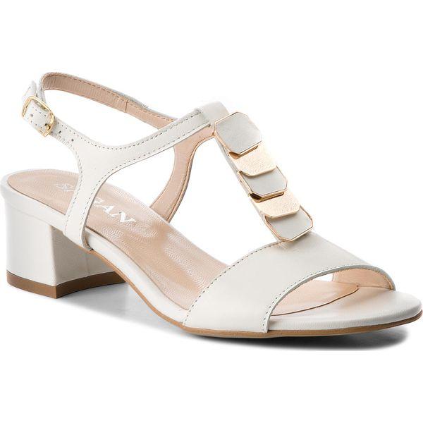 372b093e4760f Sandały SAGAN - 2856 Biały Lico - Białe sandały damskie marki Sagan ...