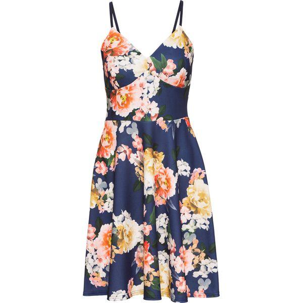 fb8a12ab0d Sukienka z dżerseju w kwiaty