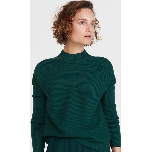 Sweter ze stójką Khaki
