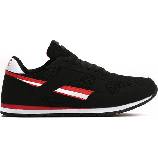 e353454163c41 Czarno-Czerwone Buty Sportowe Awards - Czarne buty sportowe męskie ...