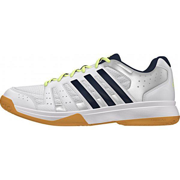 5332713d596912 Adidas Buty Sportowe Ligra 3 W Ftwr White/Night Navy/Silver Met. 5,5 (38,7)  - Białe obuwie sportowe damskie Adidas, z syntetyku, na fitness i siłownię.