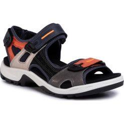 Niebieskie obuwie męskie ecco Kolekcja wiosna 2020 Moda