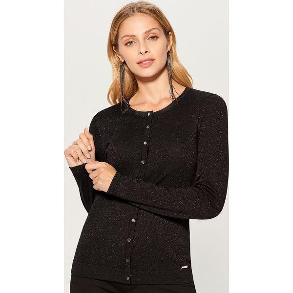16dd3094 Dopasowany sweter z zapięciem na guziki - Czarny