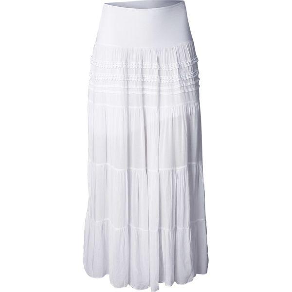 e22463e3 Długa spódnica bonprix biały
