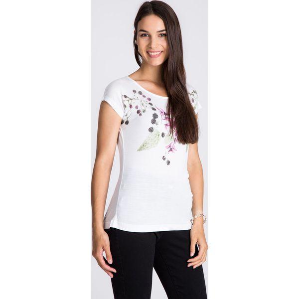 da4b528b6106 Bluzka ecru z printem w kwiaty QUIOSQUE - Bluzki damskie marki ...