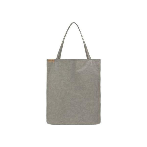 63fdf92b Shopper bag XL szara torba na zamek Vegan