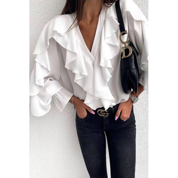 Koszula damska DEWA WHITE Białe koszule damskie IVET, bez  D4RjN