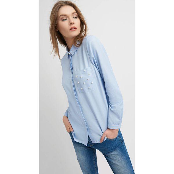 6448f15b41a0d4 Damskie Z Koszule Marki Orsay Koszula Niebieskie Perełkami GqUzpSMV