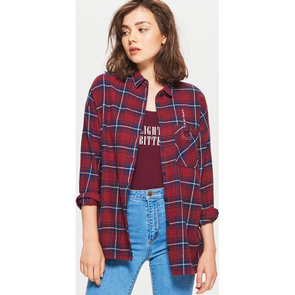 b7aa55adb2f13d Koszula w kratę - Bordowy - Koszule damskie marki Cropp. W ...