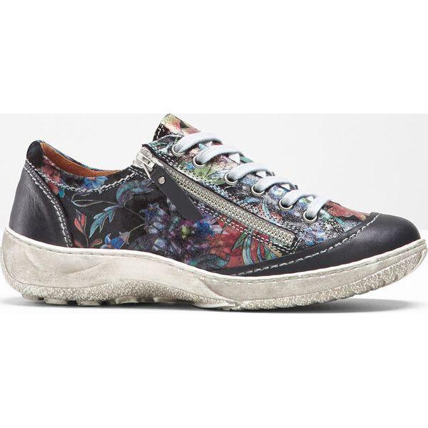 Sneakersy bonprix czarny w kwiaty