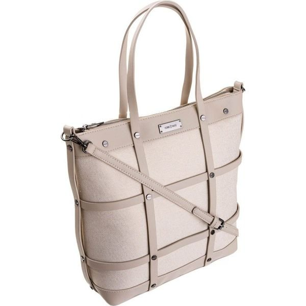 Torebka damska shopper bag FemeStage beżowa