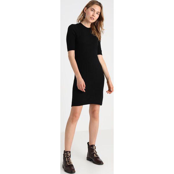 24f08aab9d Zalando Essentials Sukienka dzianinowa black - Sukienki damskie ...