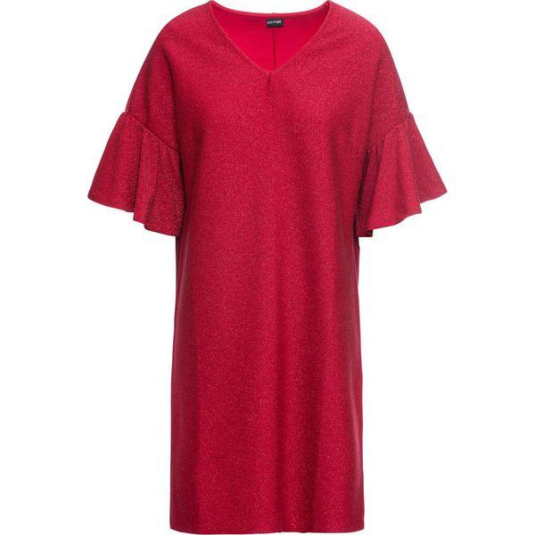 a61c5fa71b Sukienka z dżerseju z połyskiem bonprix czerwony chili - Sukienki ...